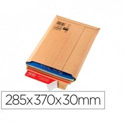 Pochette expedition colompac carton rigide brun bande...