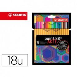Stylo-feutre stabilo point 88 arty pointe fine resistante...