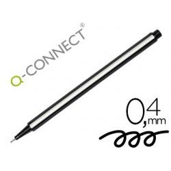 Stylo-feutre q-connect pointe fibre fine 0.4 mm coloris noir