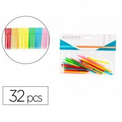 Aiguilles en plastique sodertex 7 x 01 cm 32 pcs coloris...