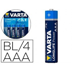 Pile varta alcaline longlife power lr03 blister 4 unites