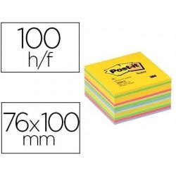 Bloc-notes post-it cube super sticky 76x76mm coloris...
