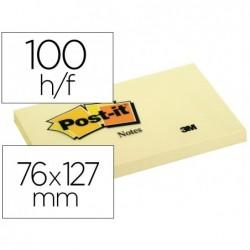 Bloc-notes post-it 76x127mm 100f/bloc repositionnables...