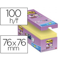 Bloc-notes post-it 76x76mm 100f/bloc repositionnables...