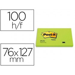 Bloc-notes post-it 655 76x127mm 100f   repositionnables...