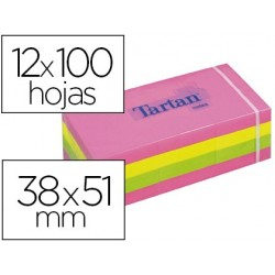 Bloc-notes tartan 38x51mm 100f/bloc repositionnables...