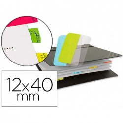 Marque-pages 3l index repositionnable semi-rigide 12x40mm...