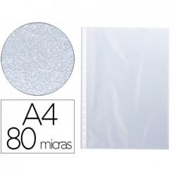Pochette q-connect polypropylène lisse 8/100e perforée a4...