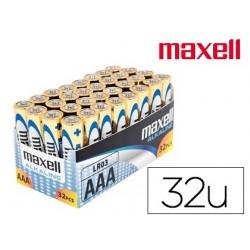 Pile lr03 maxell boîte 32 unités