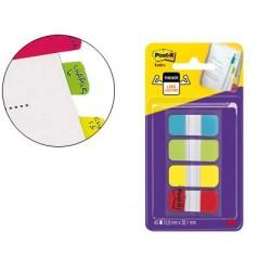 Marque-pages post-it index rigide 15.8x38.1mm coloris...