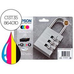 Cartouche epson 35 cadenas t3586 multipack coloris noir...