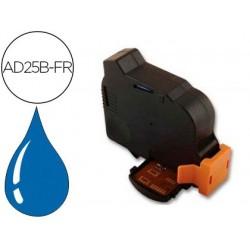Cartouche d'encre bleue compatible avec neopost ad25b-fr...
