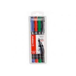 Stylo-feutre stabilo ohp pen permanent pointe moyenne 1mm...