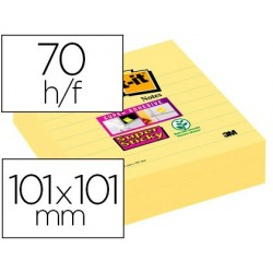 Bloc-notes post-it super sticky grand format 101x101mm...