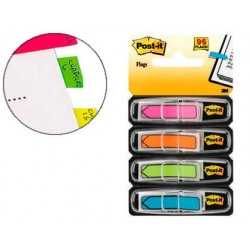 Marque-pages post-it index flèches 12x44mm 96f coloris...