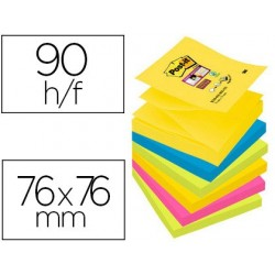 Bloc-notes post-it recharges z-notes super sticky rio...