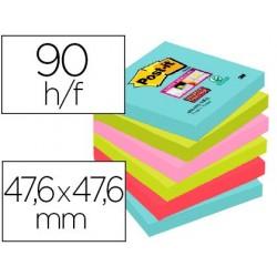 Bloc-notes post-it super sticky couleurs miami...