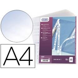 Pochette oxford pvc lisse 30/100e perforée cristal a4...