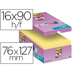 Bloc-notes post-it super sticky 76x127mm repositionnables...
