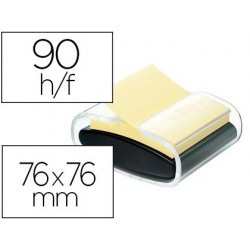 Dévidoir blocs z-notes post-it pro noir et 1 recharge 90f...