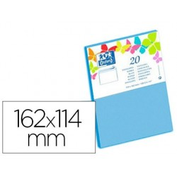 Enveloppe oxford c6 114x162mm 120g gommée coloris bleu...
