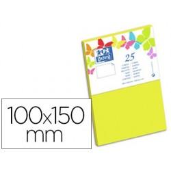 Carte oxford vélin 100x150mm 240g coloris jaune etuit de...
