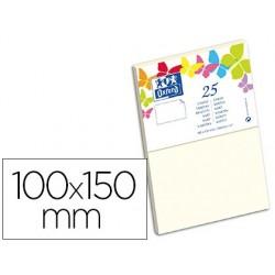 Carte oxford vélin 100x150mm 240g coloris vanille étui 25...