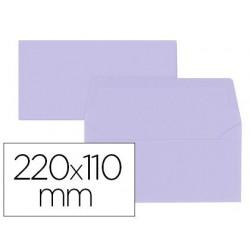 Enveloppe oxford vélin 110x220mm 120g coloris parme étui...