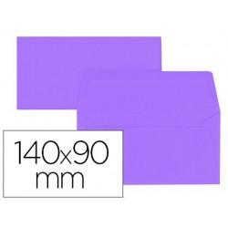 Enveloppe oxford vélin 90x140mm 120g coloris violet étui...