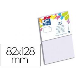 Carte oxford vélin 82x128mm 240g coloris parme étui 25...