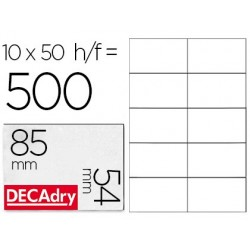 Cartes visite decadry microperforée 85x54mm 200g...