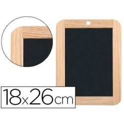 Ardoise noire jpc 180x260mm pierre naturelle cadre en bois