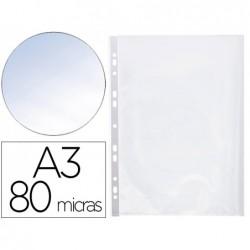 Pochette q-connect polypropylène lisse 8/100e perforée a3...