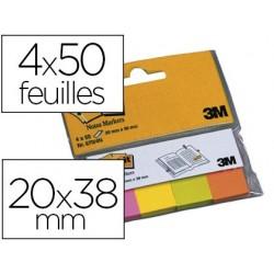 Marque-pages post-it papier notes markers 20x38mm coloris...