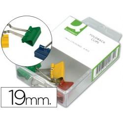 Pince q-connect double clip largeur 19mm boîte plastique...
