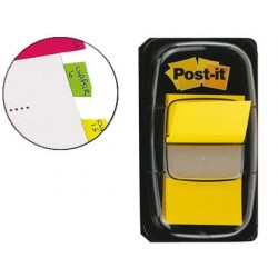 Marque-pages post-it standard index 25x44mm 50f coloris...