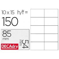 Cartes visite decadry correspondance 85x54mm bords lisses...