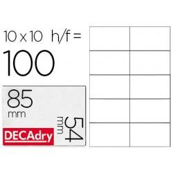 Cartes visite decadry microperforée 85x54mm 250g...