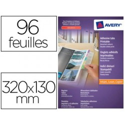 Marque-pages avery 96 onglets 320x130mm adhésif...