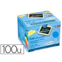 Craie jpc ordinaire collectivité coloris bleu boite de 100u
