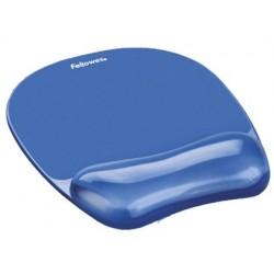 Tapis souris fellowes repose-poignet gel transparent bleu...