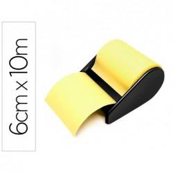 D vidoir de notes repositionnables 6 cm x 10 m jaune avec...