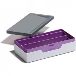 Organiseur de bureau durable plastique varicolor gris violet