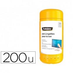 Lingettes nettoyage fellowes surfaces boite de 200