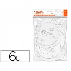Masque plat graine creative a personnaliser carton...