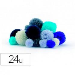Pompon graine creative polyester diametre 15mm 30mm ass...