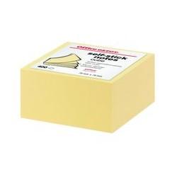 Cube 400 feuille 75x75mm jaune