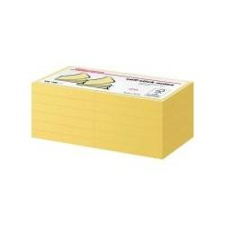 Bloc 100 feuille note 76x76 jaune (x12)