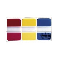 Index strong rouge jaune bleu (x3)