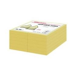 Bloc 100 feuille note 76x102 jaune (x12)